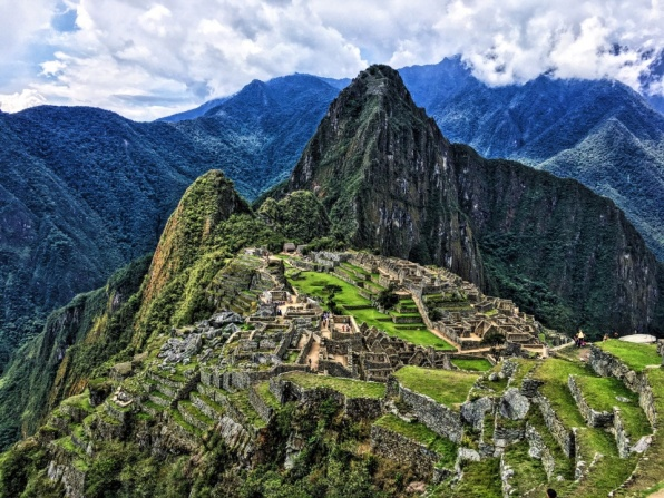 It took several hours, but Machu Picchu finally became visible after the clouds cleared up in the late morning.