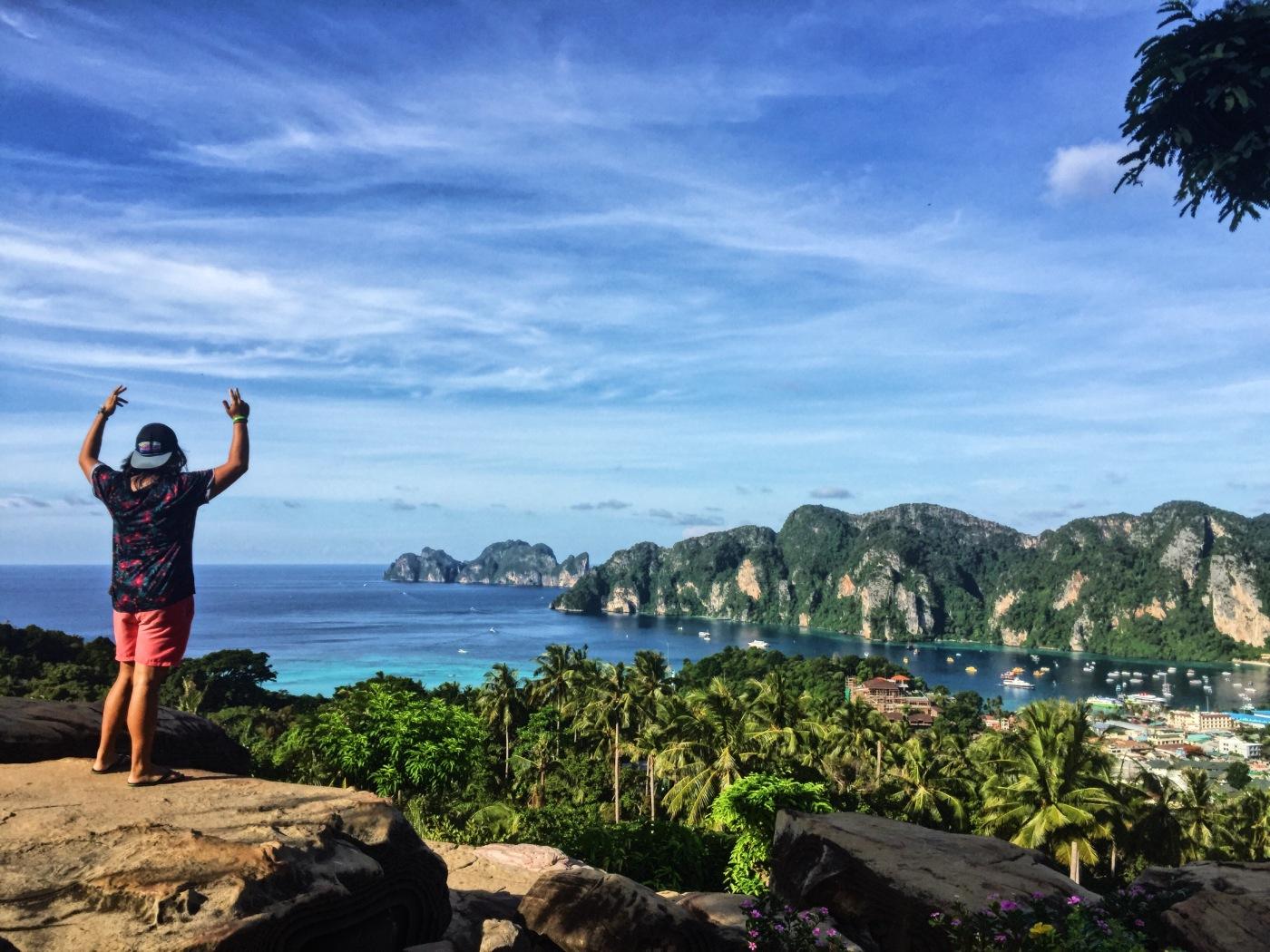 koh phi phi thailand viewpoint