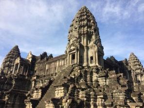 A close up of Angkor Wat's main temple